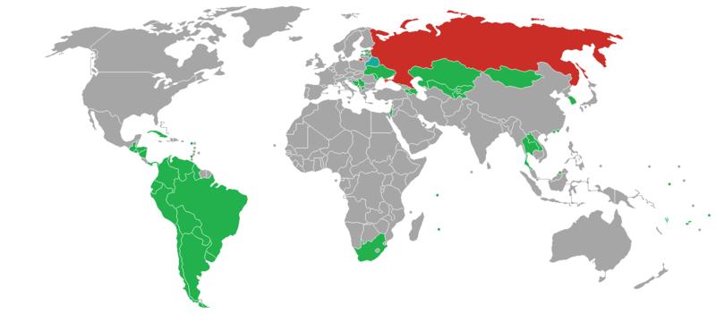 для каких стран безвизовый въезд в россию