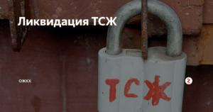 Заявление о ликвидации ТСЖ