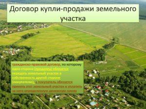 Процесс купли продажи земельного участка