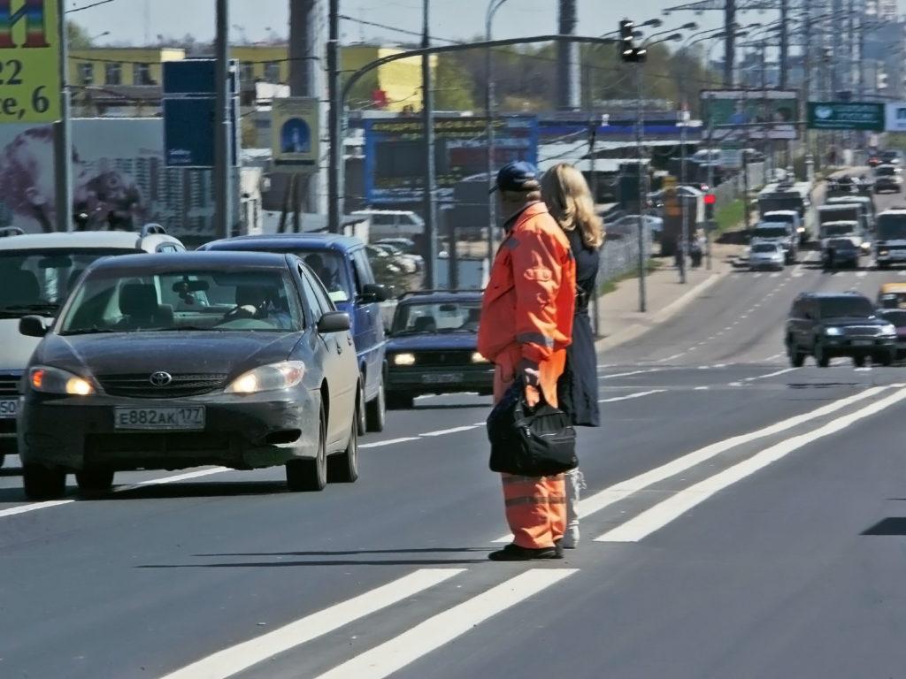Нарушение пешеходом правил перехода дороги